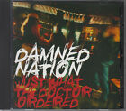 DAMNED NATION / JUST WHAT THE DOCTOR ORDERED JAPAN CD OOP