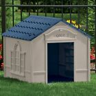 Suncast Large Deluxe Dog House with FREE Doors DH350 Taupe