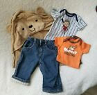 Baby Boy Monkey Jeans Set and Bath Towel