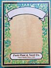 RUBBER STAMPEDE POSH PLANT  SEED CO PACKET FRAME WOOD MOUNT
