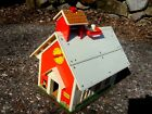 vtg 1971 Fisher Price SCHOOL HOUSE only w chalk alphabet tray FP little people