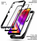 Case For LG G7 ThinQ PoeticGuardianFull Body Rugged Clear Bumper Cover Black