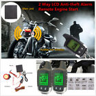 Motorcycle 2Way Anti-theft Alarm System Security Immobiliser Remote Engine Start