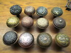 LARGE LOT 12 ASSORTED BRASS ? BRONZE ? CAST IRON DOOR KNOBS...NICE ORNATE DETAIL