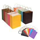 Recyclable 10 Colors Party Bags Kraft Paper Gift Bag With Handle Shop Loot Bag T
