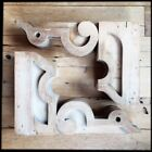 Pair Antique Ornate Wood Corbels Architectural Salvage Victorian - 3 pairs avail