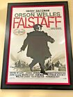 Rare vintage Orson Welles Falstaff Chimes at Midnight French 4x 65
