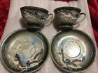 Japanese DRAGONWARE Raised Dragons TEA SET of 4 AS IS