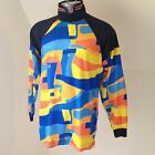 Vintage High 5 Cycling Bike Jersey Shirt Size Medium M Vibrant Abstract Colors