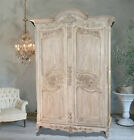 Antique French Armoire   Entertainment Center  Wardrobe  Linen Closet