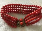 antique old natural red coral bracelet  Others turquoise gold Jade sales