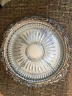 Vintage Wallace Silverplate Grande Baroque silver and divided glass serving dish