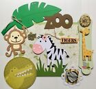 A Day at the Zoo Paper Piecing Premade Scrapbook Page Sewn Mat Set