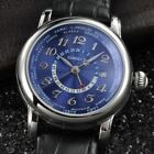 43MM Corgeut Genuine Leather Stainless Steel Full Date Automatic Men Watch D5