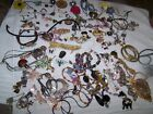 HUGE Mostly Vtg 99PC Animals Insects Flowers Hearts Jewelry Lot Stones Glass+