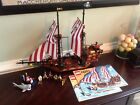 LEGO Brickbeard's Bounty Pirate Ship (6243) 100% COMPLETE with Great White Shark