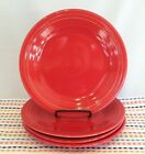 Fiestaware Scarlet Dinner Plates Fiesta LOT of 4 Red 10.5 inch Plates