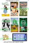 Wizard of Oz Dorothy 7 1x2 Domino Dog Tag Jewelry Photo Images scrapbooking