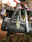 1940's - Artdeco Awesome Lucite Purse Clear Lucite Greymarbeled Perfect Conditio