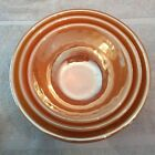 VINTAGE FIRE KING 3 PIECE Peach Luster Ware SWIRL MIXING/NESTING BOWLS