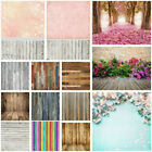 3x5 5x7FT Romantic Retro Plank Flower Wall Background Photography Backdrops