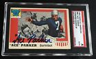 HOF ACE PARKER 1955 TOPPS ALL AMERICAN SIGNED AUTOGRAPHED CARD #84 SGC AUTHENTIC