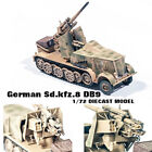WWII German Sdkfz8 DB9 88 mm anti aircraft 1 72 diecast Half Track PMA model