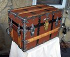 C.A. Taylor Antique Flat Top  Steamer Trunk