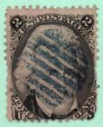 73 Early US Stamp Blue Fancy Cancel Faults