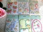 LOT of 6 Packages BRENDA WALTON GRAND ADHESIONS K  COMPANY PASTEL GARDEN THEME