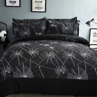 3D Spider Web Print Duvet Cover Bedding Set Quilt Cover Sets Pillow Shams Black