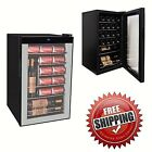 Beverage Mini Fridge Refrigerator Wine Beer Soda Pop Cooler Door Glass Display