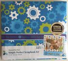 NEW atd Simply Perfect Boys Scrapbook KIT 8X8 325 Piece Album Paper Stickers