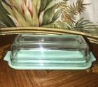 Vintage Fire King Jadeite Butter Dish with Clear Lid; Excellent Cond.