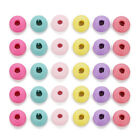 200pcs/lot 10*5mm Natural Colorful Wood Spaer Beads Braelet Jewelry Diy Findings
