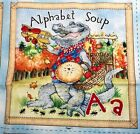 ALPHABET SOUP Fabric Book Panel By Stella Blue For South Sea Imports