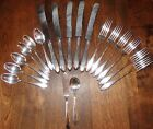 Antique Wm Rogers LUFBERRY 1915 Silver Plate Flatware Lot Service for 5--Mono S