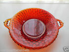Indiana Glass Ruby Red Decorated Honeycomb 7 1/2