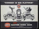 1952 Amoco Gas Co. Advertising Election Score Card - Dwight D. Eisenhower