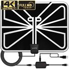 Antenna TV Digital HD 200 Mile Range Skywire TV Indoor 1080P 4K 18ft Coax Cable