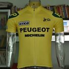 1970 Peugeot Cycling Jersey Retro Road Pro Clothing MTB Short Sleeve Racing Bike
