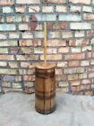 Vintage Antique Wooden Butter Churn Wood Primitive Farmhouse Rustic Decor
