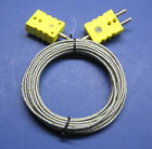 Industrial K-type Thermocouple Extension Cable Wire W Standard Connector 3-18 Ft