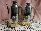 Vintage Salt  Pepper Silver Percolator Coffee Pots Plastic Shakers