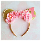 Pink and gold Minnie Mouse inspired headbandfirst birthdaypa