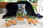4 Glasses Pitcher Midcentury