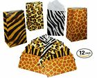 Zoo Animal Print Paper Bags Pack Of 12 Safari Jungle Party Favor For Candy Desig