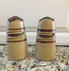 Brown Stoneware FISH Salt and Pepper Shakers Mid Century  Japan