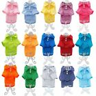 Cute Dog Puppy Cat Polo Shirt T Shirt Solid Clothes Apparel For SMALL Pet XXS M