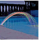 Colorful Pool Accessory Lights Show Waterfall Fountain Above Ground w LED Light